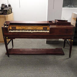 George III Inlaid Mahogany Pianoforte