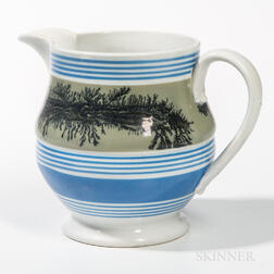 Mocha Seaweed Decorated Jug