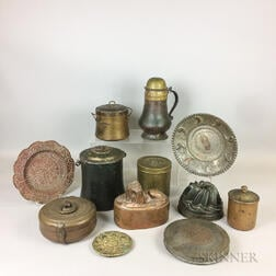 Thirteen Pieces of Domestic Metalware