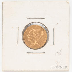 1913 $2.50 Indian Head Quarter Eagle Gold Coin