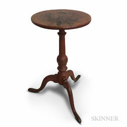Queen Anne Red-stained Maple Candlestand