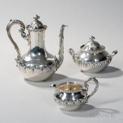 Three-piece Dominick & Haff Sterling Silver Coffee Service
