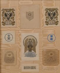 Nine Russian Imperial Bookplates
