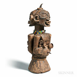 Songye-style Carved Wood Nkisi Power Figure
