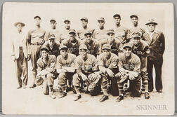 Postcard of the Cincinnati Clowns Baseball Team.