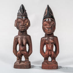 Pair of Ibeji Figures,