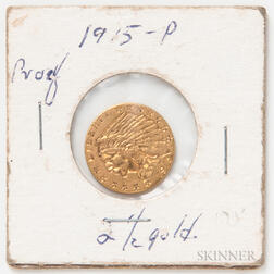 1915 $2.50 Indian Head Quarter Eagle Gold Coin