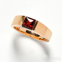 """18kt Gold and Citrine """"Tank"""" Ring, Cartier"""