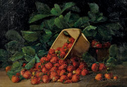 Charles Ethan Porter (American, 1847-1923)      Strawberries Spilling from an Overturned Carton