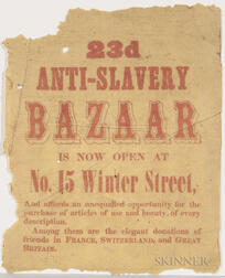 "Small ""Anti-Slavery Bazaar"" Broadside"