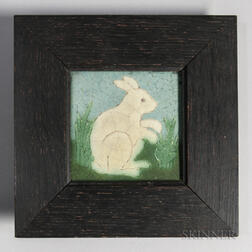 Framed Grueby Pottery Tile