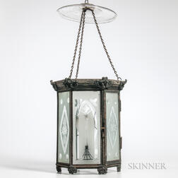 Etched Glass Gothic Wall Light