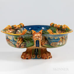 Cantagalli-type Majolica Wine Cooler