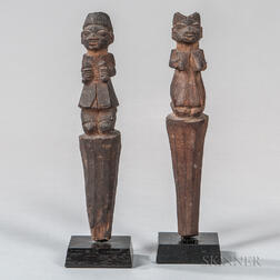 Pair of Igbo Male and Female Figures