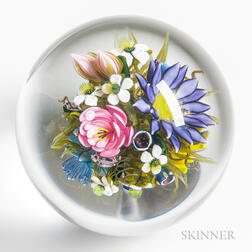 Ken Rosenfeld Orb with Colorful Flowers