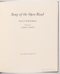 Whitman, Walt (1819-1892) Song of the Open Road,   Illustrated and Signed by Aaron Siskind.
