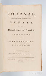 Journal of the Second Session of the Senate of the United States of America, Begun and Held at the City of New-York, January 4th, 1790.