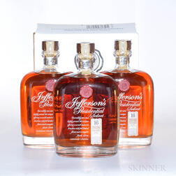 Jeffersons Presidential Select Bourbon 16 Years Old, 3 750ml bottles (oc)
