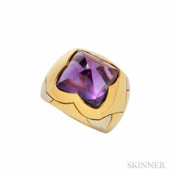 18kt Gold and Amethyst Ring, Bulgari