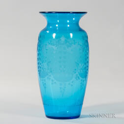 Hawkes Decorated Vase
