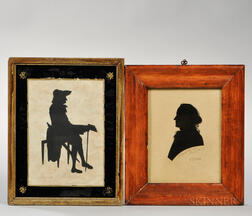 Hollow-cut Silhouettes of James Oglethorpe and Samuel Carrol