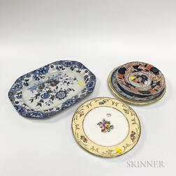 Group of Chinoiserie-style Tableware Items