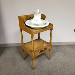Federal Paint-decorated Pine Washstand