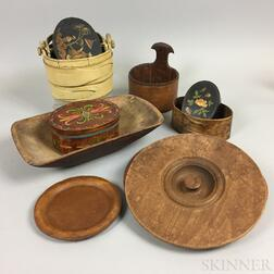 Small Group of Wooden Domestic Items