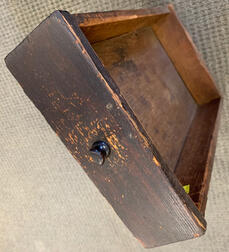 Black-painted Tiger Maple One-drawer Gate-leg Table