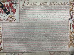 Grant of Arms with Seals, England, 16 April 1714.