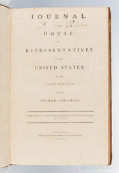 Journal of the House of Representatives of the United States, at the First Session of the Second Congress.