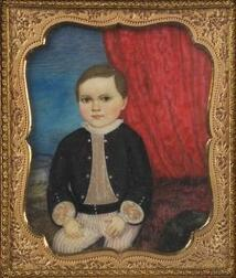 Attributed to Augustus Fuller, (American, 1812-73)  Portrait of a Boy.
