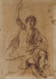 Guercino (Italian, 1591-1666)      Study for St. John the Baptist