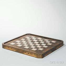 Chinese Export Lacquer and Gilt Folding Game Board Box