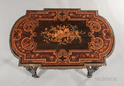 Louis XIV-style Marquetry Center Table