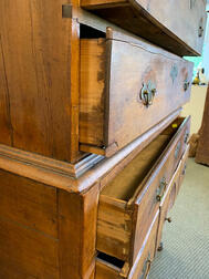 Carved Maple High Chest of Drawers