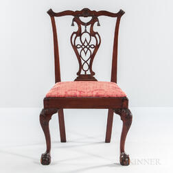Carved Mahogany Side Chair