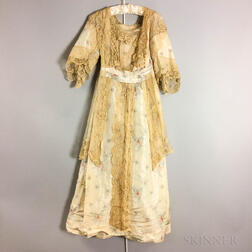 Vintage Silk and Lace Dress