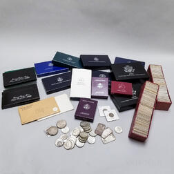 Large Group of American Coins and Proof Sets