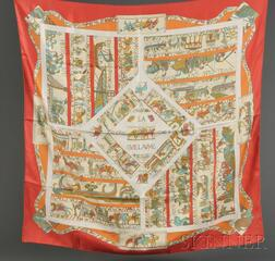 Two Silk Scarves, Hermes