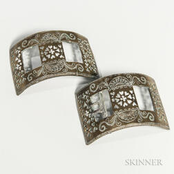 Pair of 19th Century Brass Shoe Buckles