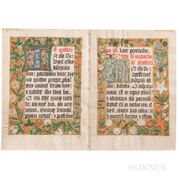 Illuminated Manuscript Leaves.