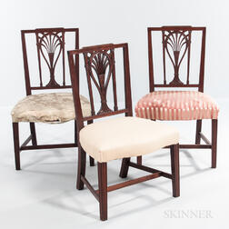 Set of Three Federal Square-back Side Chairs