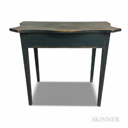 Country Blue-painted Shaped-top Console Table