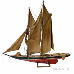 Carved and Painted Model of the Schooner Bluenose