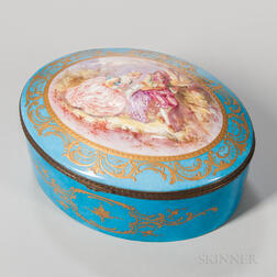 Oval Sevres-style Porcelain Box