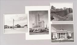 Four Photographs Depicting Various Views of County Courthouses