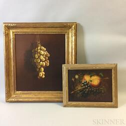 Two Framed American Oil Still Lifes with Grapes