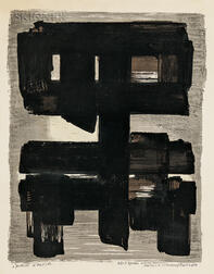 Pierre Soulages (French, b. 1919)      Lithographie no 1