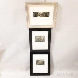 Three Framed Black and White Photographs.     Estimate $100-150